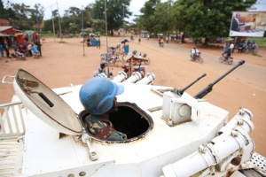 UN Peacekeepers on patrol in the DRC