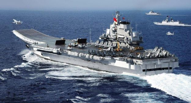 China's carrier Liaoning, a recommissioned ex-USSR vessel. China plans to start building its own aircraft carriers in a move seen as a response to America's own fleet. PLAN Photo