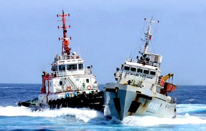 JUNE 2014 CLASHES - China and Vietnam-owned vessels again clashed on Monday, June 23, near a Chinese oil rig that has been set up in a part of the South China Sea that is being claimed by both countries. According to Vietnamese Coast Guard, the incident left two Vietnamese sailors injured and their Fisheries Surveillance ship KN-951 severely damaged.