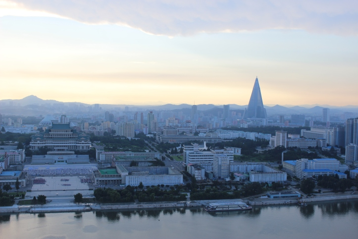 View of Pyongyang from the Juche Tower