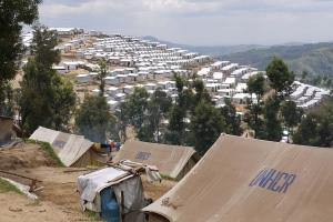 Kigeme refugee camp in the DRC.