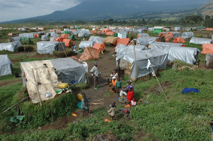 Kibumba is a displaced persons camp about forty minutes north of Goma, close to the border with Rwanda. (Source:Wikicommons)
