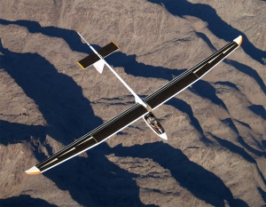 Solar powered plane.