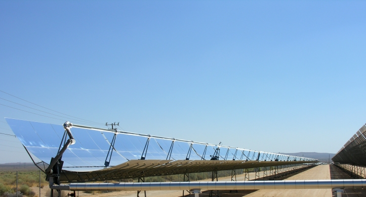 A solar thermal plant in California.