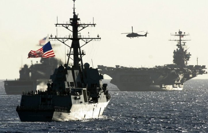 The USS Chung-Hoon maneuvers with the US Pacific 7th Fleet