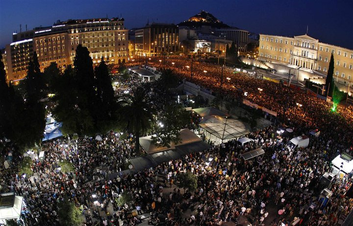The 2011 Greek uprising. Greece is still struggling with escalating sovereign debt crisis