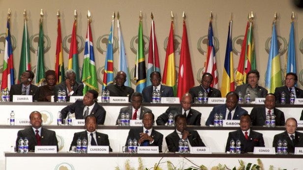 Heads of state and government representatives during the 17th Ordinary African Union Summit in Malabo, Equatorial Guinea, in 2011. Photo by: Embassy of Equatorial Guinea / CC BY-ND