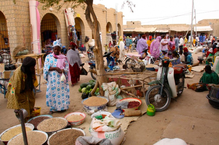 A market in Nigeria. Nigeria's economy is now the strongest on the countinent with a GDP of more than $500 billion.