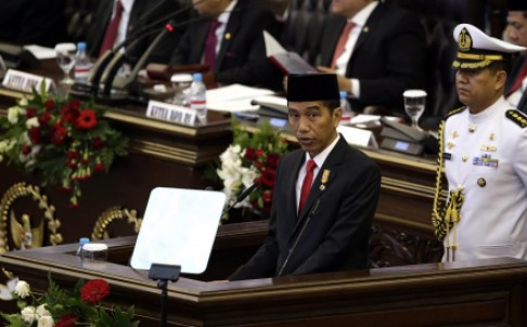 Joko Widodo delivers his state-of-the-nation address. Photo: EPA Indonesia has recently moved to rapidly expand its military capabilities in contravention with its ASEAN commitments.