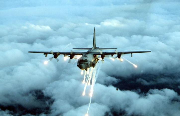 This undated photo shows an Air Force Special Forces AC-130 gunship, which the US military has used to attack targets in Afghanistan since 2001. An AC-130 was used in the strike that hit a Kunduz hospital on Oct. 3, 2015. US Air ForceGetty Images Social Sharing