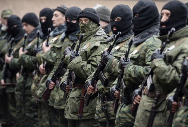 """The """"little green men"""" who annexed Crimea to """"protect Russian speakers from the fascist government""""."""