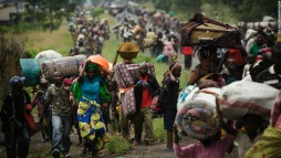 Refugees flee the fighting in east Congo. Photo: Phil Moore, AFP, Getty Images