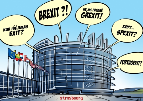 Damage control at the EU headquarters. Image Credit: Rytis Daukantas and Guardian UK