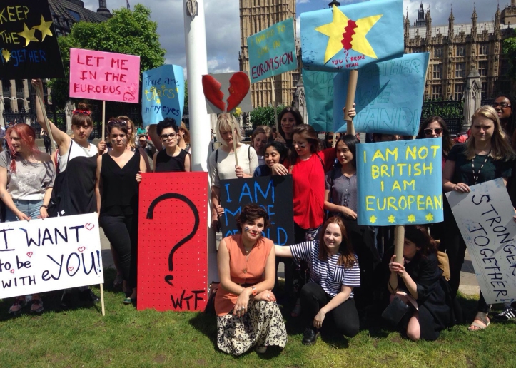 UK students protest against Brexit. Image Credit: De Zeen Magazine