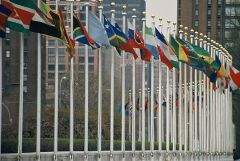 Flags of the world at the United Nations in New York City. Image Credit: Wikimedia/Aotearoa