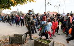 Europe has been in crisis due to a constant flow of refugees, displaced by the Syrian Civil War. Image Credit: Ministry of Defence of the Republic of Slovenia
