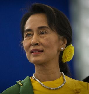 Aung San Suu Kyi, Photo: Claude TRUONG-NGOC, Wikipedia Commons